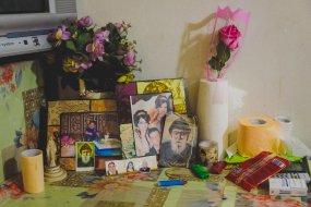 A few keepsakes of the life of a Christian Iraqi refugee family, Beirut, Lebanon