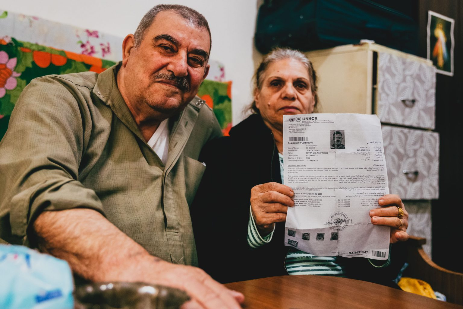 THE EXILE TO LEBANON OF VICTORIA AND FARIDELIA, IRAQI CHRISTIAN REFUGEES COUPLE REGISTERED WITH THE UNHCR