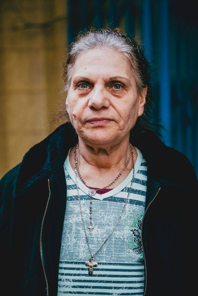 THE EXILE OF  VICTORIA 67 YEARS OLD, CHRISTIAN IRAQI REFUGEE REGISTERED WITH HER FAMILY WITH THE UNHCR, BEIRUT, LEBANON