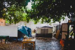 Tents for the Haitian artists and earthquake survivors