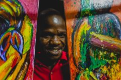 Haitian artists earthquake survivor Sylvaince Jean-Paul
