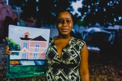 Junior Haitian artist and earthquake survivor Diana Toussaint