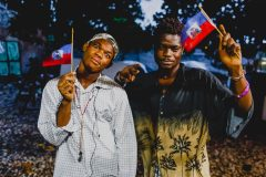 Haitian artists earthquake  survivor Sino Augustin and Payen Herst a