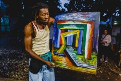 Haitian artist and earthquake survivor Marc Arthur Lamitié