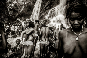 15 July 2009:. Annual Vodoo festival at Saut d'Eau Waterfalls with thousands of pilgrims from Haiti and the Haitian diaspora taking good-luck baths